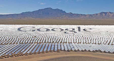 Google Solar Array In California
