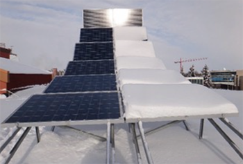 Solar Panels Cleared of Snow