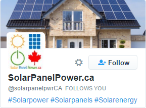 SolarPanelPower.ca - Twitter Follow Card