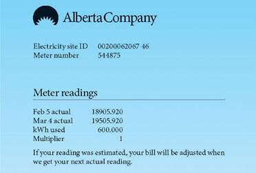 Alberta Power Bill