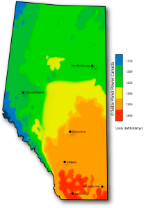Solar Power Map Alberta