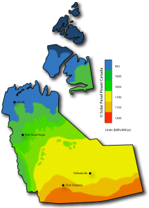 Solar Power Map Northwest Territories