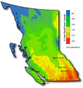 Solar Power Map British Columbia