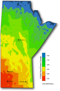 Solar Power Map Manitoba