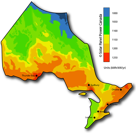 Solar Power Map Ontario