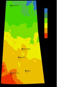 Solar Power Map Saskatchewan