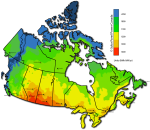 Solar Power Map Canada