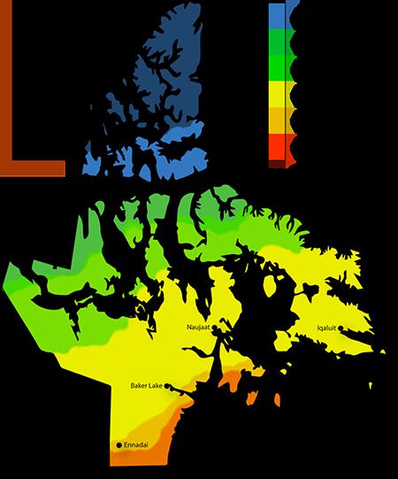 Solar Power Map Nunavut