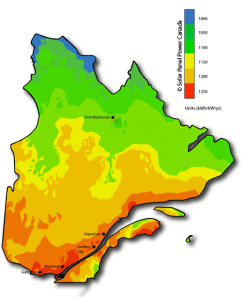 Solar Power Map Quebec