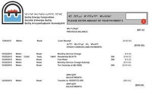 Nunavut Power Bill