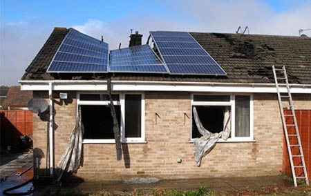 Roof Collapse Solar Power